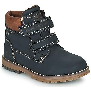 Buty Chłopiec Buty za kostkę Tom Tailor 73003-BLEU Niebieski
