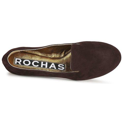 NITOU  Rochas  mokasyny  damskie  brązowy
