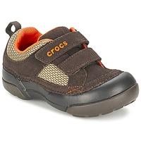 Buty Chłopiec Trampki niskie Crocs DAWSON HOOK & LOOP Brązowy