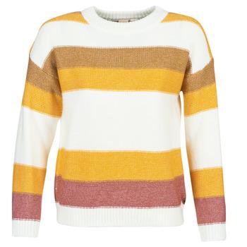 tekstylia Damskie Swetry Roxy TRIP FOR TWO STRIPE Biały / Żółty