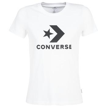 tekstylia Damskie T-shirty z krótkim rękawem Converse STAR CHEVRON Biały