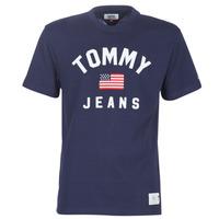 tekstylia Męskie T-shirty z krótkim rękawem Tommy Jeans TJM USA FLAG TEE Marine