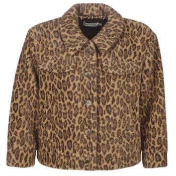 tekstylia Damskie Kurtki krótkie See U Soon 9262153 Leopard