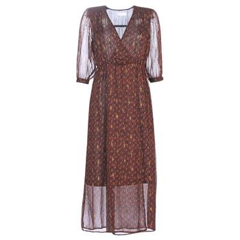 tekstylia Damskie Sukienki długie See U Soon 9221839 Czarny / Czerwony