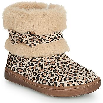 Buty Dziewczynka Buty za kostkę Citrouille et Compagnie LILIFA Camel / Leopard