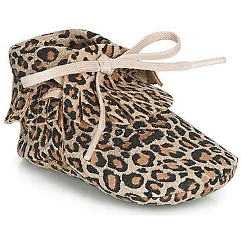 Buty Dziewczynka Obuwie domowe Citrouille et Compagnie LILIFI Camel / Leopard