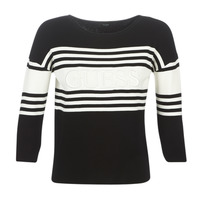 tekstylia Damskie Swetry Guess VIOLANTE Czarny / Biały