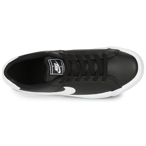 Nike COURT ROYALE AC W Czarny / Biały - Bezpłatna dostawa