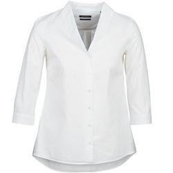 tekstylia Damskie Koszule Marc O'Polo ALESSIA Biały