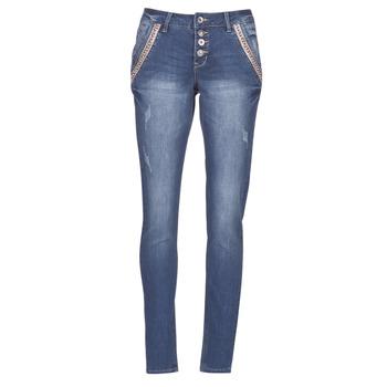 tekstylia Damskie Jeansy straight leg Cream DICTE Niebieski