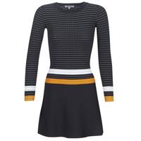 tekstylia Damskie Sukienki krótkie Morgan ROXFA Marine / Biały / Żółty