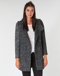 tekstylia Damskie Płaszcze Casual Attitude LOUA Szary / Czarny