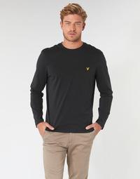 tekstylia Męskie T-shirty z długim rękawem Lyle & Scott TS512V-574 Czarny