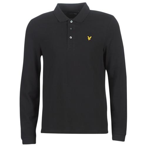 tekstylia Męskie Koszulki polo z długim rękawem Lyle & Scott LP400VB-574 Czarny