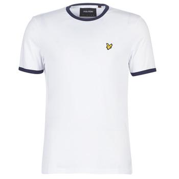 tekstylia Męskie T-shirty z krótkim rękawem Lyle & Scott TS705V-Z660 Biały