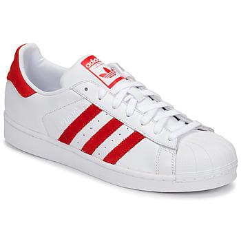 Buty Trampki niskie adidas Originals SUPERSTAR Biały / Czerwony