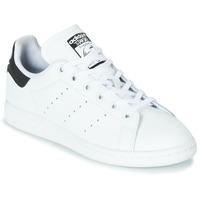 Buty Dziecko Trampki niskie adidas Originals STAN SMITH J Biały / Czarny