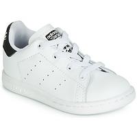 Buty Dziecko Trampki niskie adidas Originals STAN SMITH EL I Biały / Czarny