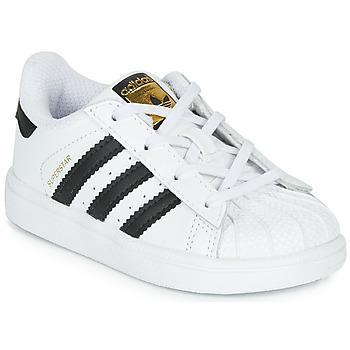 Buty Dziecko Trampki niskie adidas Originals SUPERSTAR I Biały / Czarny
