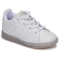 Buty Dziewczynka Trampki niskie adidas Originals STAN SMITH EL I Biały / Glitter
