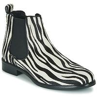 Buty Damskie Buty za kostkę Betty London HUGUETTE Czarny / Biały / Zebra