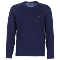 tekstylia Męskie T-shirty z długim rękawem Polo Ralph Lauren L/S CREW-CREW-SLEEP TOP Marine