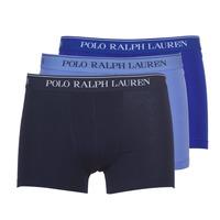 Bielizna  Męskie Bokserki Polo Ralph Lauren CLASSIC-3 PACK-TRUNK Niebieski