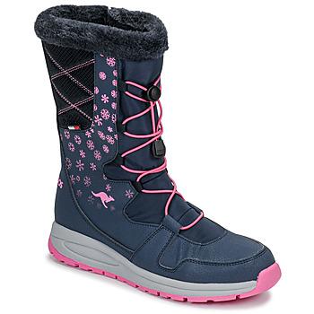 Buty Damskie Śniegowce Kangaroos K-GLAZE RTX Marine / Różowy