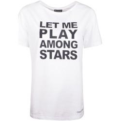 tekstylia Damskie T-shirty z krótkim rękawem Armani 3Z2T62 2J07Z Biały