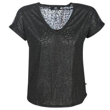 tekstylia Damskie T-shirty z krótkim rękawem Le Temps des Cerises OKINAWA Czarny