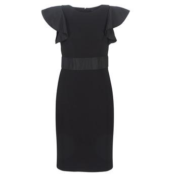tekstylia Damskie Sukienki krótkie Lauren Ralph Lauren JERSEY SLEEVELESS COCKTAIL DRESS Czarny