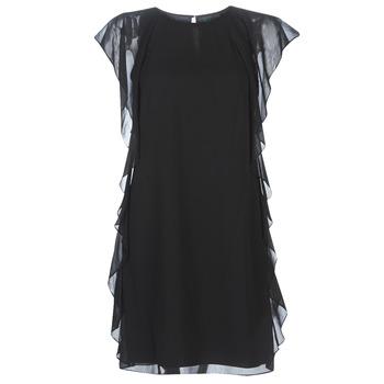 tekstylia Damskie Sukienki krótkie Lauren Ralph Lauren RUFFLED GEORGETTE DRESS Czarny