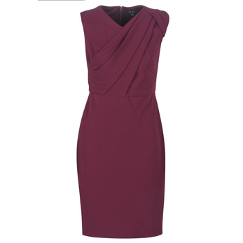 tekstylia Damskie Sukienki długie Lauren Ralph Lauren RUBY SLEEVELESS DAY DRESS Bordeaux