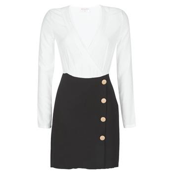 tekstylia Damskie Sukienki krótkie Moony Mood LUCE Czarny / Biały