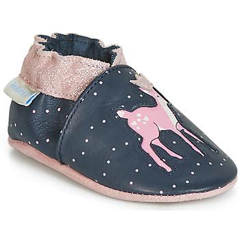 Buty Dziewczynka Kapcie niemowlęce Robeez LITTLE FAWN Marine / Różowy