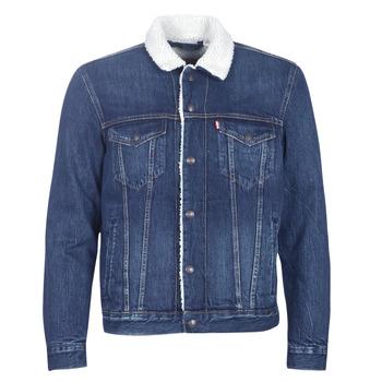 tekstylia Męskie Kurtki jeansowe Levi's TYPE 3 SHERPA TRUCKER Palmer
