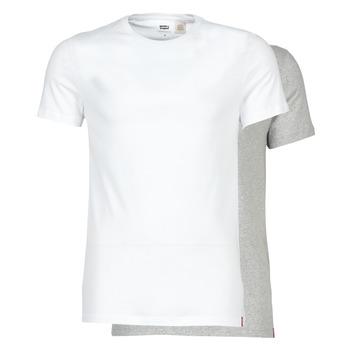 tekstylia Męskie T-shirty z krótkim rękawem Levi's SLIM 2PK CREWNECK 1 Biały / Szary