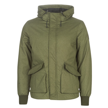 tekstylia Męskie Kurtki krótkie Scotch & Soda SHORT HOODED JACKET WITH INSIDE QUILTING Kaki