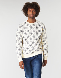 tekstylia Męskie Bluzy Scotch & Soda CREWNECK SWEAT WITH LOGO ALL-OVER PRINT Biały