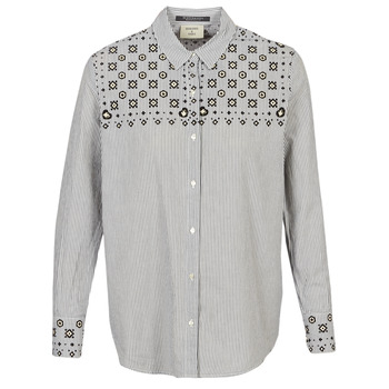 tekstylia Damskie Koszule Maison Scotch BUTTON UP SHIRT WITH BANDANA PRINT Szary