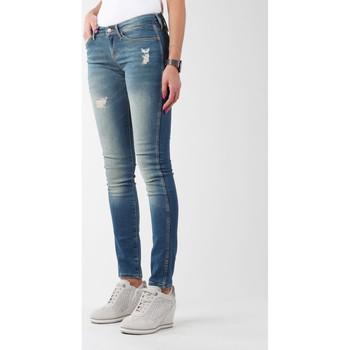 tekstylia Damskie Jeansy skinny Wrangler Jeansy  Sandy Blues W23S4072G niebieski