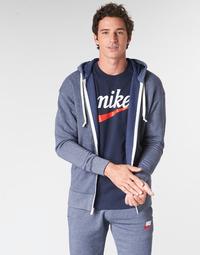 tekstylia Męskie Bluzy Nike M NSW HERITAGE HOODIE FZ Marine