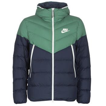 tekstylia Męskie Kurtki pikowane Nike M NSW DWN FILL WR JKT HD Marine / Zielony