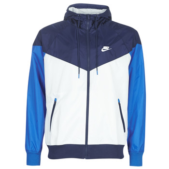 tekstylia Męskie Kurtki wiatrówki Nike M NSW HE WR JKT HD Niebieski / Biały