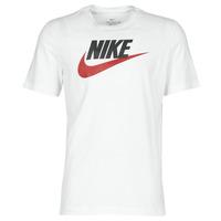tekstylia Męskie T-shirty z krótkim rękawem Nike M NSW TEE ICON FUTURA Biały