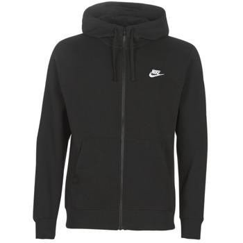 tekstylia Męskie Bluzy Nike M NSW CLUB HOODIE FZ BB Czarny