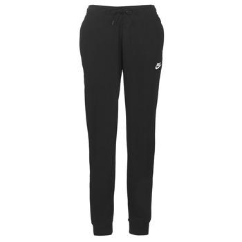 tekstylia Damskie Spodnie dresowe Nike W NSW ESSNTL PANT REG FLC Czarny