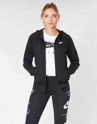 tekstylia Damskie Bluzy Nike W NSW ESSNTL HOODIE FZ FLC Czarny