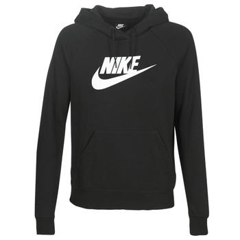 tekstylia Damskie Bluzy Nike W NSW ESSNTL HOODIE PO  HBR Czarny