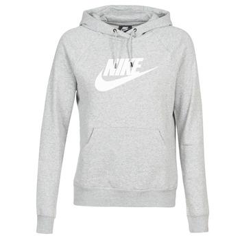 tekstylia Damskie Bluzy Nike W NSW ESSNTL HOODIE PO  HBR Szary